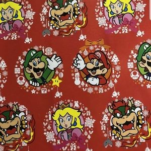 SUPER MARIO Gift Wrap Wrapping Paper 1 Roll NEW